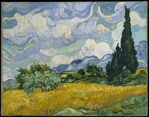 Wheat Field with Cypresses (Van Gogh, 1889)