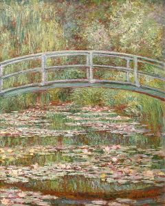Bridge over a Pond of Water Lilies (Monet, 1899)