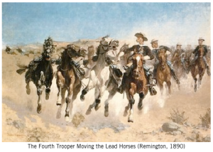 Painting by Remington expressing courage