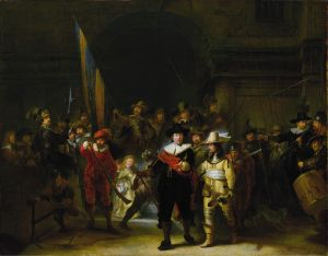 Night Watch painting by Rembrandt