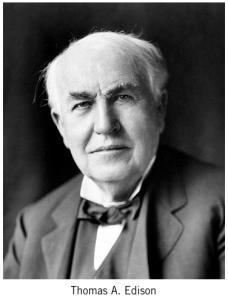 Photo of entrepreneur, Thomas Edison