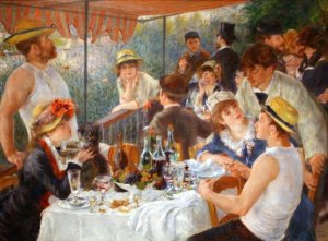 Luncheon of the Boating Party by Renoir