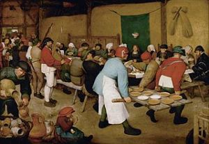 The Peasant Wedding by Bruegel