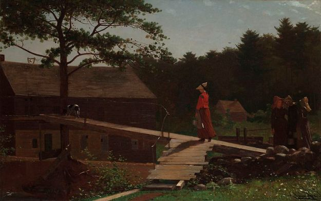800px-Old_Mill_The_Morning_Bell_by_Winslow_Homer_1871